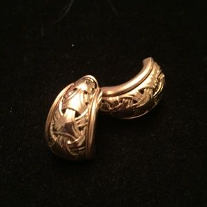 Vintage Gold Tone Piercied Earrings